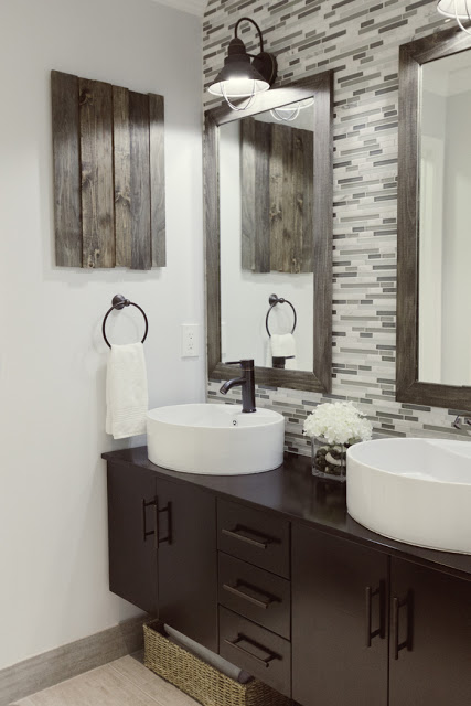 Remodelaholic home sweet home on a budget master baths for Master bathroom on a budget
