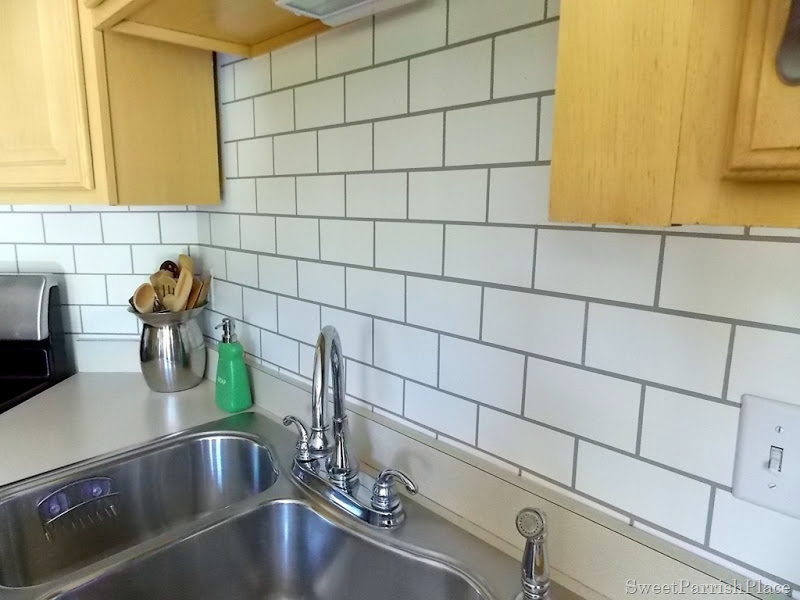painted subway tile backsplash construction haven home
