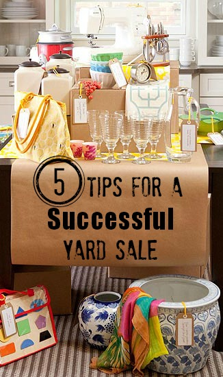 5 Tips for a Successful Yard Sale | Tipsaholic.com #cleaning #home #organization #yardsale