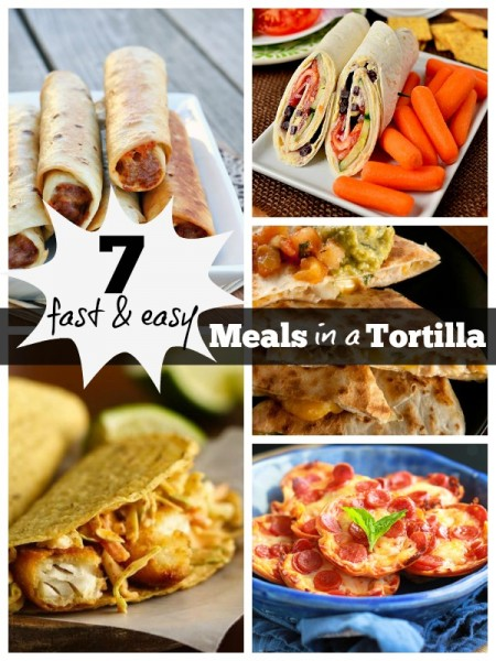 7 Fast and Easy Meals in a Tortilla | Tipsaholic.com #recipe #cooking #tortilla #fast #dinner