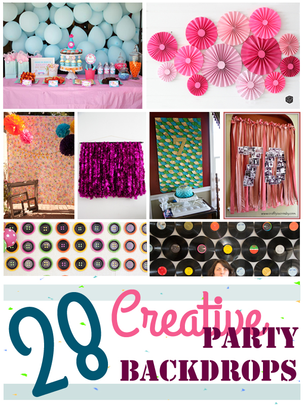 28 Creative Party Backdrops Collage