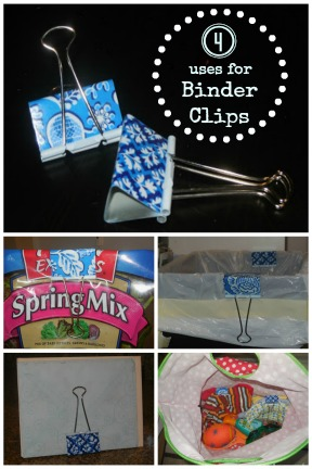 4 uses for binder clips @Tipsaholic
