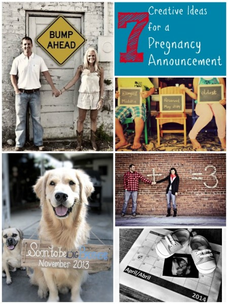7 Creative Ideas for a Pregnancy Announcement | Tipsaholic.com #photography #baby #announcement #pregnancy
