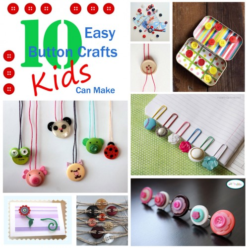 10 Easy Button Crafts Kids Can Make | Tipsaholic.com #craft #diy #kids #button