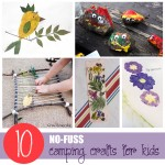 10 No Fuss Camping Crafts for Kids
