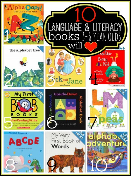 10 Language and Literacy Books 3-6 Year Olds Will Love   Tipsaholic.com #kids #reading #books #literacy