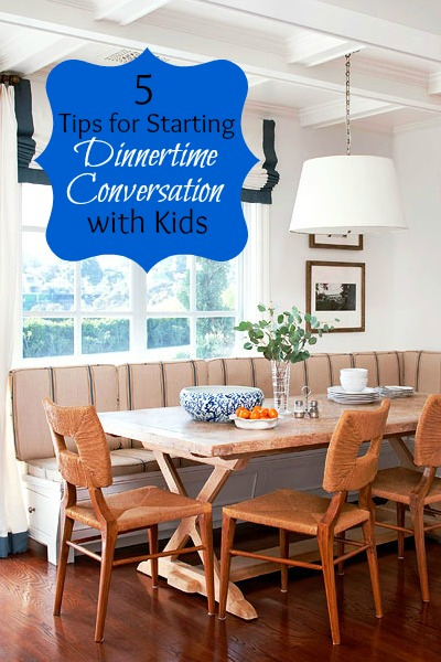 5 Tips for Starting Dinnertime Conversation with Kids   Tipsaholic.com #home #family #meal #dinner #conversation #kids