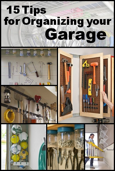 15 Tips For Organizing Your Garage | Tipsaholic.com #home #organization # Garage