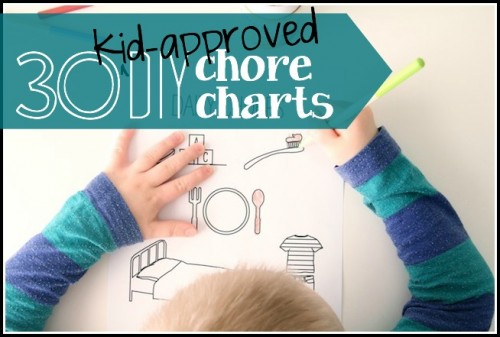 30 Kid-Approved DIY Chore Charts -  via tipsaholic, #chorechart, #chores