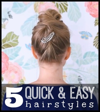 5 Quick And Easy Hairstyles Tipsaholic