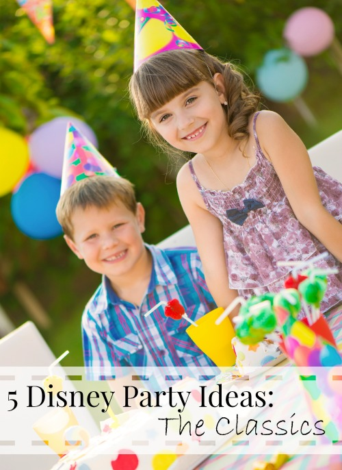 If your kids love the classic Disney movies, they'll love a birthday party based on one of them. Check out these five classic Disney party ideas! 5 Disney Party Ideas: The Classics at tipsaholic.com #disney #birthday #party #birthdayparty #disneyparty