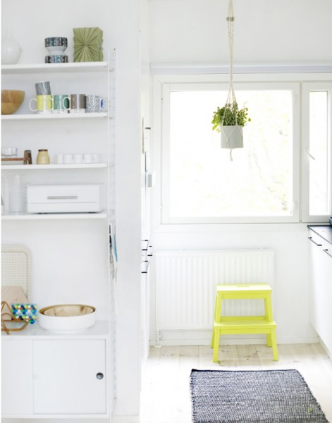 colorful step stool kitchen