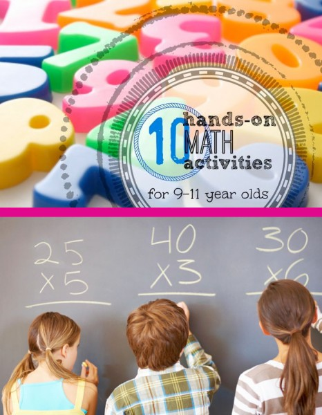 10 Hands On Math Activities for 9-11 Year Olds - Tipsaholic
