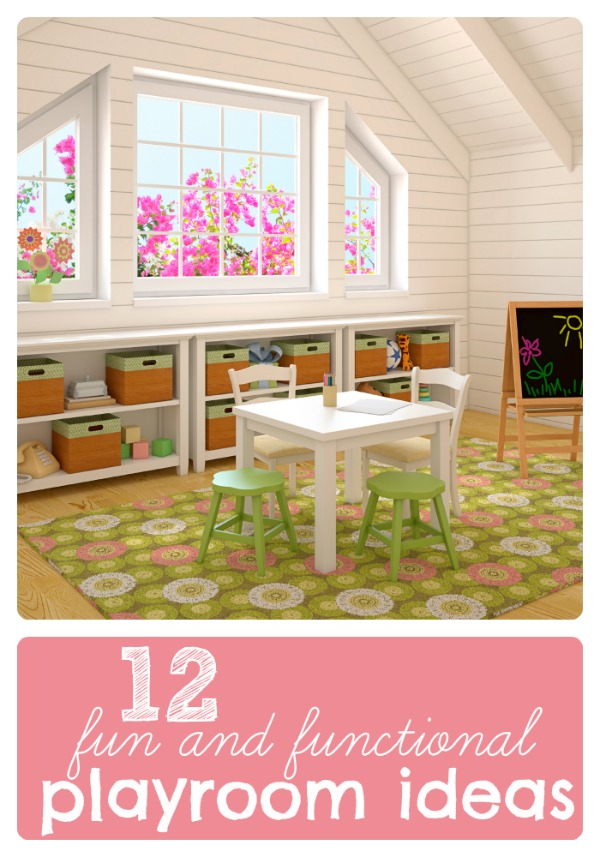 12 Fun and Functional Playroom Ideas at tipsaholic.com