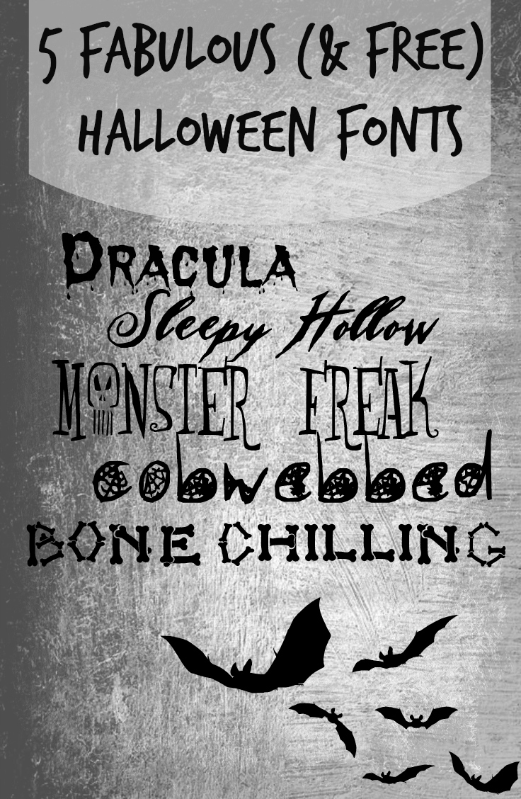 Create Halloween fun using fonts perfect for all Halloween projects. Check out these 5 fabulous and free halloween fonts via @tipsaholic #fonts #halloween