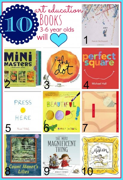 Learning with your child can be fun. Teach them in a variety of ways. Teach about art and reading with these 10 Art Education Books 3-6 Year Olds Will Love - Tipsaholic, #art, #education, #kids, #books, #read, #kidsbooks, #artbooks, #preschool