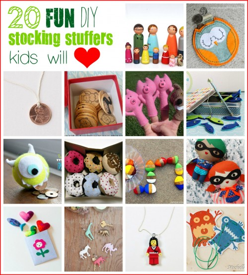 Get creative and crafty with gifts this year. All toys don't have to come from a store. Here are 20 Kid-Pleasing DIY Stocking Stuffers - Tipsaholic, #stockingstuffers, #DIY, #kids, #sewing, #gifts, #Christmas