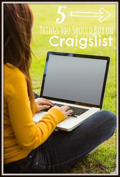 Not sure what to look for in Craigslist? You could save a lot of money shopping on Craigslist. Find out about 5 things you should buy from Craigslist! 5 Things You Should Buy on Craigslist via @tipsaholic #craigslist #onlineshopping #thrift #thrifting