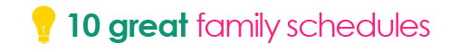 tipsaholic title divider - family schedules