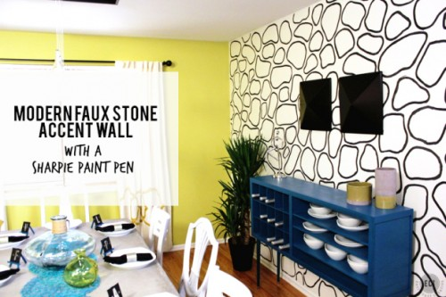 Sometimes a beautiful pattern on just one wall can bring a room from blah to gorgeous. Read on to learn about 5 ways to decorate your walls with paint pens! 5 Ways to Decorate Your Walls With Paint Pens via @tipsaholic #paint #walls #pens #paintpens #decorate #diy