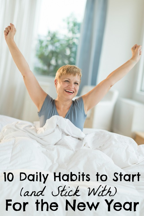 With small changes in your daily routine, you can improve your health, your productivity, and your happiness. Adopt these 10 daily habits for the new year! via tipsaholic.com #newyear #resolutions #health #goals #weightloss #habits