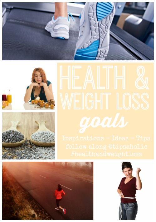 Looking for lots of ideas, inspirations, and tips to stay on top of your health and weight loss goals. Health & Weight Loss Goals Week via tipsaholic.com #weightloss #health #goals #newyear