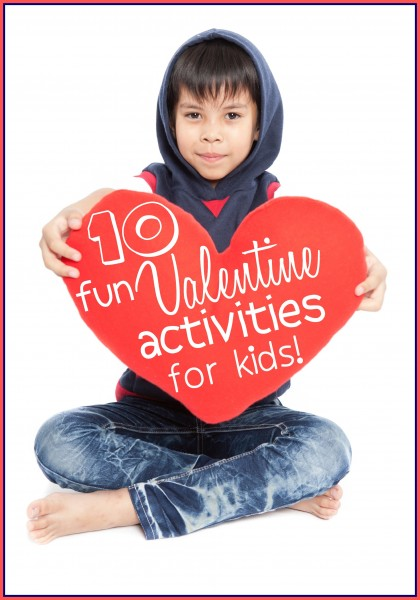 There are lots of great projects and crafts you can do with your kids around Valentine's Day. 10 Fun Valentine Activities for Kids - tipsaholic, #valentine, #valentine's #valentinesday #kids, #education, #crafts