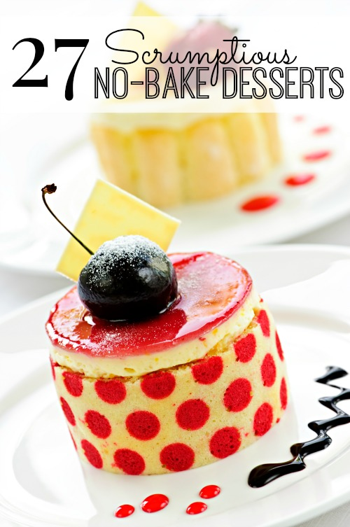 Sometimes you just want something sweet without having to turn on the oven. These 27 delicious no-bake desserts will hit the spot! 27 Scrumptious No-Bake Desserts via tipsaholic.com #desserts #nobake #sweets #treats #recipes