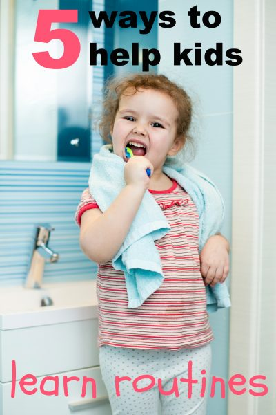 Use these 5 tips to help your kids learn routines for home, school, and day-to-day activities and make each day a little smoother for everyone. 5 Ways to Help Kids Learn Routines ~ Tipsaholic.com #parenting #kids #routine