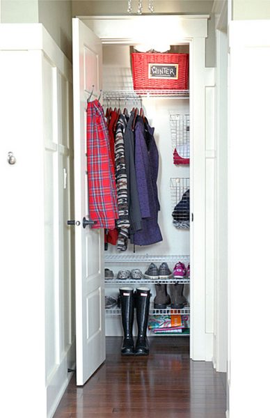 Is Your Coat Closet Small And Cluttered? Turn Your Messy Coat Closet Into  An Organized