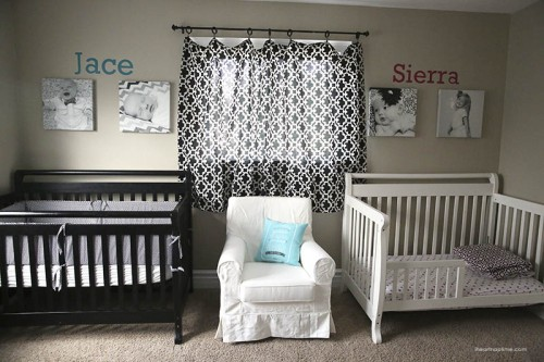 Crib And Toddler Bed Shared Room