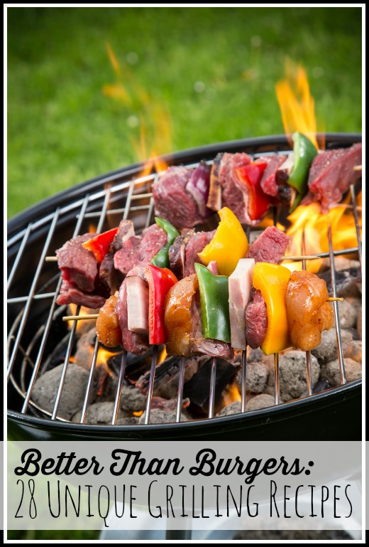 Fire up the grill and invite everyone over for a BBQ party! Forgo the frozen burger patties and hot dogs and try these 28 unique grilling recipes instead! Better Than Burgers: 28 Unique Grilling Recipes via @tipsaholic #grill #grilling #summer #food #backyard
