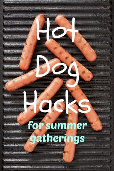 Make hot dogs for your next gathering with less hassle and more flavor using these fantastic hot dog hacks! Hot Dog Hacks for Parties ~ Tipsaholic.com #hotdog #recipe #summerfamilyactivities