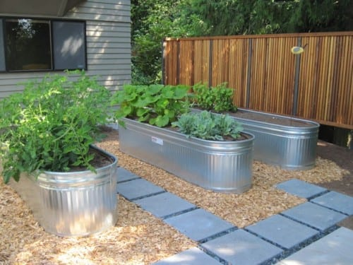 Metal Culvert Raised Garden Bed