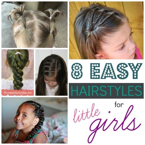 Find a cute new hairstyle for your little girl! 8 Easy Hairstyles for little girls featured on Remodelaholic.com