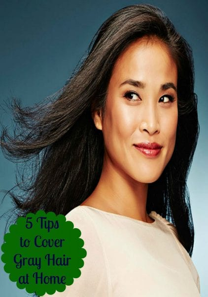 Covering gray hair can be tricky. With a little effort, and following these five tips, you can cover gray hair at home. 5 Tips to Cover Gray Hair at Home via @tipsaholic #grayhair #coloring #haircolor #haircoloring #graycoverage #greycoverage #greyhair