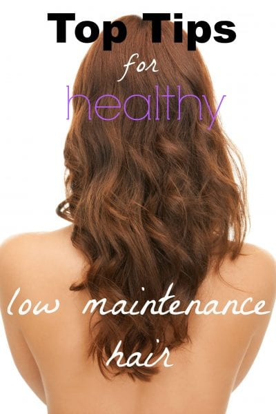 Blow drying, curling, and styling hair every morning can be a hassle. If you crave low maintenance hair, use these tips to get back to healthy hair basics. Top Tips for Low Maintenance Hair ~ Tipsaholic.com #easy #hair #lowmaintenance