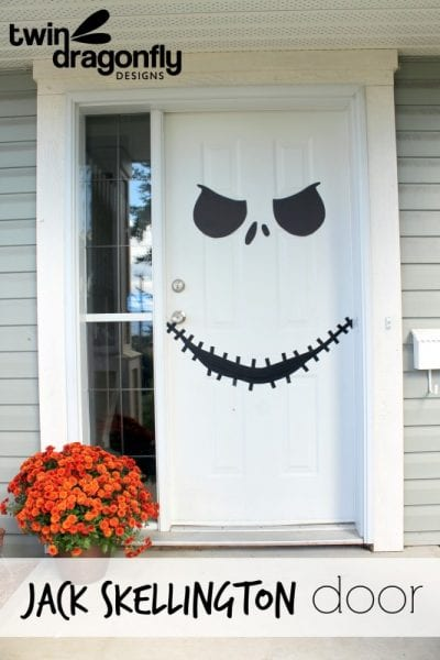 Jack Skellington door Twin Dragonfly Designs featured on Remodelaholic.com