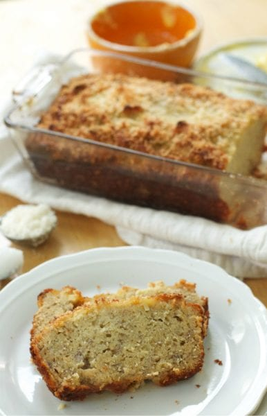 coconut banana bread paleo gluten-free bread recipe