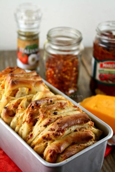 herb cheese sun dried tomatoes pull apart bread recipe