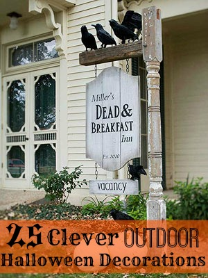 25 Clever Outdoor Halloween Decorations - 25 Clever Outdoor Halloween Decorations - Tipsaholic