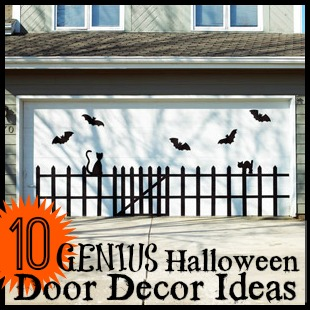 10 Genius Halloween Door Decor Ideas - Remodelaholic.com